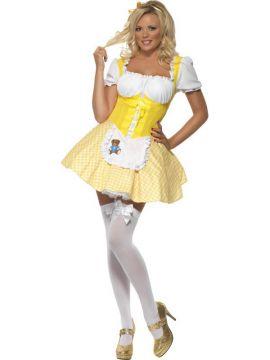 Goldilocks For Sale - Fever Goldilocks Costume, Dress With Bear Detail | The Costume Corner Fancy Dress Super Store