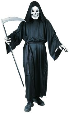 Grave Reaper For Sale - Includes: Mask; Hooded robe; Belt and gloves. One size fits most. | The Costume Corner Fancy Dress Super Store