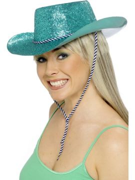 Cowboy Hat - Green For Sale - Sparkly Green Cowboy Hat | The Costume Corner Fancy Dress Super Store