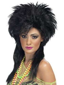 Groovy Punk Chick Wig For Sale - Groovy Punk Chick Wig, Black, in Display Box | The Costume Corner Fancy Dress Super Store