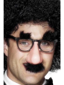 Groucho Specs For Sale - Includes glasses with attached nose, eyebrows and mustache.   The Costume Corner Fancy Dress Super Store