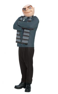 Gru Mens Costume - Despicable Me For Sale - Contains suit, scarf & mask | The Costume Corner Fancy Dress Super Store