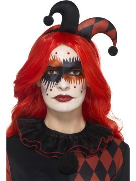 Harlequin Make-Up Kit For Sale - Includes Face Stickers, Eye Lashes, Gem Stickers, Face Paints & Applicator | The Costume Corner Fancy Dress Super Store
