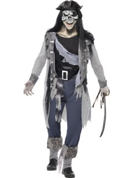 Haunted Swashbuckler For Sale - Haunted Swashbuckler Costume, with Coat, Trousers, Boot Cuffs and Belt | The Costume Corner Fancy Dress Super Store