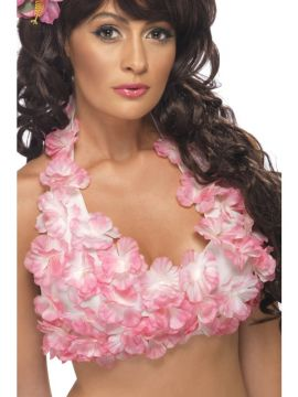 Flowered Halterneck Top For Sale - Hawaiian Flowered Halterneck Top, Assorted, Pink and Purple | The Costume Corner Fancy Dress Super Store