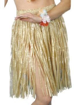 Hawaiian Hula Skirt For Sale - Hawaiian Hula Skirt, with Elasticated Waist, 56cm/22 inches, on Display Card | The Costume Corner Fancy Dress Super Store