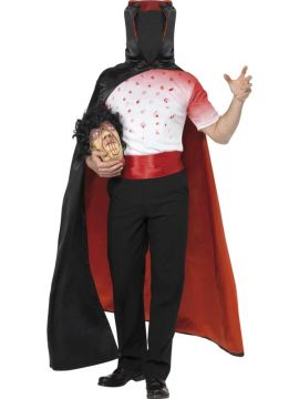 Headless Man Costume For Sale - Headless Man Costume, with T-Shirt, Cloak, Belt and Head, in Display Bag | The Costume Corner Fancy Dress Super Store