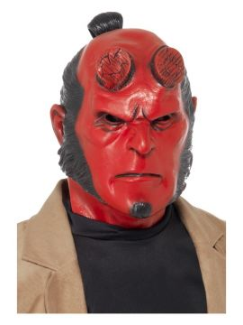 Hellboy Mask For Sale - Hellboy Mask, Full Overhead, Latex, on Display Card | The Costume Corner Fancy Dress Super Store