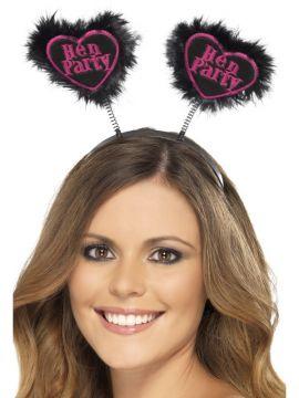 Hen Party Love Heart Boppers For Sale - Hen Party Love Heart Boppers, Black | The Costume Corner Fancy Dress Super Store