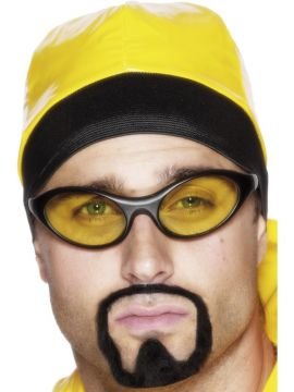 Herb Warrior Glasses For Sale - Herb warrior specs black frames with yellow lenses | The Costume Corner Fancy Dress Super Store