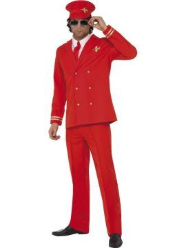 High Flyer For Sale - High Flyer Costume, Red, with Jacket, Trousers, Hat and Shirt Front. | The Costume Corner Fancy Dress Super Store