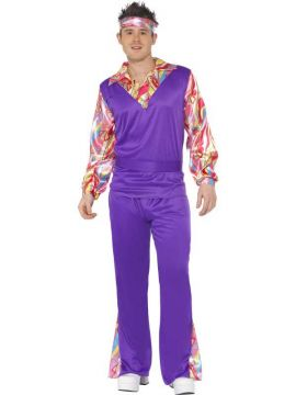 Hippy For Sale - Purple Hippy Costume with Top mock waistcoat. | The Costume Corner Fancy Dress Super Store