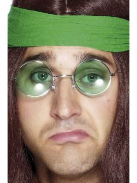 Hippy 70s Specs For Sale - Seventies Hippy Specs, Assorted Coloured Lenses | The Costume Corner Fancy Dress Super Store