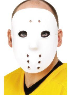 Hockey Mask For Sale - Hockey Mask, White, PVC | The Costume Corner Fancy Dress Super Store