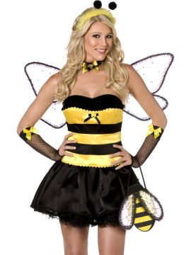 Honey Bee For Sale - Fever Boutique Honey Bee 4 Piece Costume, With Dress, Corset, Wings and Headband | The Costume Corner Fancy Dress Super Store