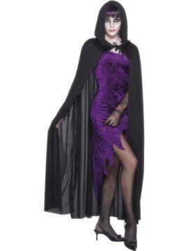 Hooded Vampire Cape For Sale - Hooded Vampire Cape, Black | The Costume Corner Fancy Dress Super Store