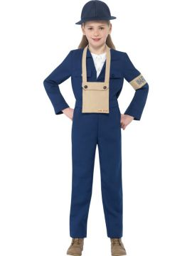 Horrible Histories - Air Warden For Sale - Jumpsuit, hat & bag | The Costume Corner Fancy Dress Super Store
