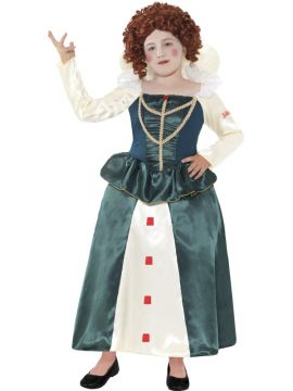 Horrible Histories - Elizabeth I For Sale - Green with Dress, in Display Bag | The Costume Corner Fancy Dress Super Store