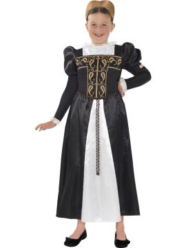 Horrible Histories, Mary Queen of Scots Costume For Sale - Horrible Histories, Mary Queen of Scots Costume, Black, with Dress and Headband, in Display Bag | The Costume Corner Fancy Dress Super Store