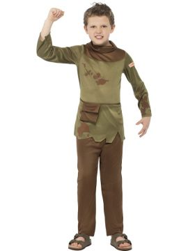 Horrible Histories - Revolting Peasant Boy For Sale - Tunic with attached pouch & trousers | The Costume Corner Fancy Dress Super Store
