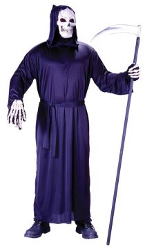 Horror Robe For Sale - Grim Reaper Style Horror Robe. Includes: Hooded Robe; Belt. One size fits most. | The Costume Corner Fancy Dress Super Store