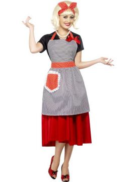 Housewife Honey Kit For Sale - Housewife Honey Kit, Red & Black, with Apron, Pearl Necklace and Hair Bow | The Costume Corner Fancy Dress Super Store