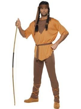 Indian Brave For Sale - Indian Brave Costume, Brown, With Shirt, Trousers, Belt and Headband | The Costume Corner Fancy Dress Super Store
