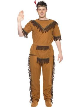 Indian Brave For Sale - Indian Brave Costume, Brown, with Top, Trousers, Belt and Headband. | The Costume Corner Fancy Dress Super Store