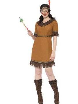 Indian Maiden For Sale - Indian Maiden Costume, Brown, with Dress, Belt and Headband | The Costume Corner Fancy Dress Super Store