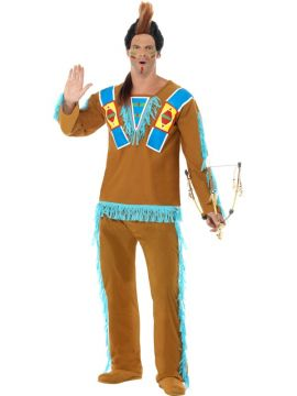 Indian Warrior For Sale - Indian Warrior Costume, Brown, with Top and Trousers. | The Costume Corner Fancy Dress Super Store