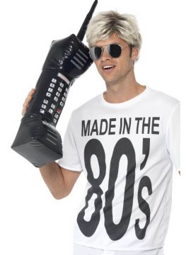 Inflatable Retro Mobile Phone For Sale - Inflatable Retro Mobile Phone, Black, 30 inches | The Costume Corner Fancy Dress Super Store