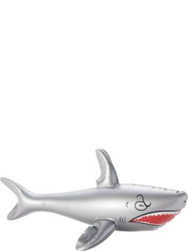 Inflatable Shark For Sale - Inflatable Shark, Grey, 40cm | The Costume Corner Fancy Dress Super Store