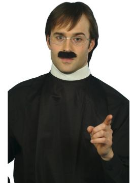 Instant Vicars Kit For Sale - Instant Vicars Kit, with Shirt Front and Collar, Tash and Specs | The Costume Corner Fancy Dress Super Store
