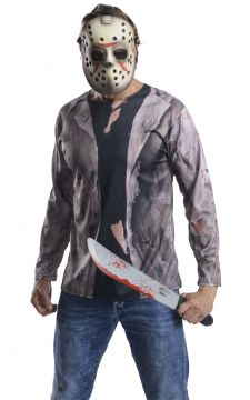 Jason Costume Kit For Sale - Include shirt, mask & machete | The Costume Corner Fancy Dress Super Store