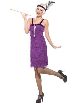 Jazz Flapper For Sale - Jazz Flapper Costume, Lilac, With Dress and Headpiece | The Costume Corner Fancy Dress Super Store