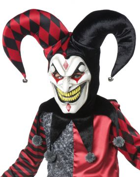Jester Kit For Sale - Jester mask with hat & collar | The Costume Corner Fancy Dress Super Store