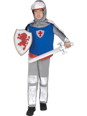 Knight For Sale - Medieval Knight Costume. Includes headpiece, top and trousers. | The Costume Corner Fancy Dress Super Store