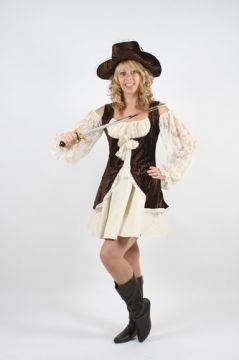 Lady Buccaneer Brown For Sale - Lady Buccaneer brown. (Hire Costume)   The Costume Corner