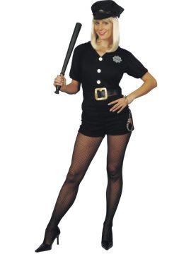 Lady Cop For Sale - Lady Cop Sexy Shirt, Shorts And Hat | The Costume Corner Fancy Dress Super Store