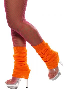 Legwarmers For Sale - Legwarmers, Orange, Neon, in Display Pack | The Costume Corner Fancy Dress Super Store