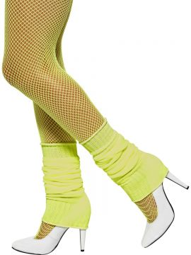 Legwarmers For Sale - Legwarmers, Yellow, Neon, in Display Pack | The Costume Corner Fancy Dress Super Store