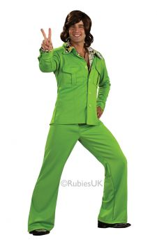 Leisure Suit For Sale - Wanna be the king of cool? The safari cut (plus flares) and lurid colour say Seventies - but you can wear this