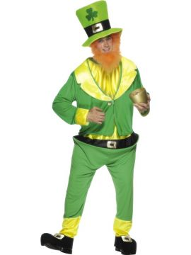 Leprechaun For Sale - Leprechaun Costume with Jumpsuit, Jacket, Hat and Ginger Beard | The Costume Corner Fancy Dress Super Store
