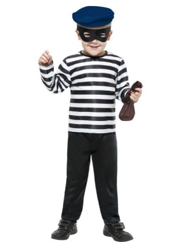 Little Burglar For Sale - Little Burglar Costume includes top, trousers, hat and eyemask. | The Costume Corner Fancy Dress Super Store