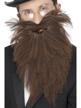 Long Beard and Tash For Sale - Long Beard and Tash, Brown, in Display Bag | The Costume Corner Fancy Dress Super Store