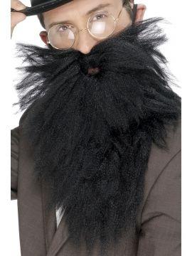 Long Beard and Tash Black For Sale - Long Beard and Tash, Black, in Display Bag | The Costume Corner Fancy Dress Super Store