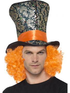 Mad Hatter Top hat For Sale - Mad Hatter top hat with attached coloured hair | The Costume Corner Fancy Dress Super Store