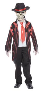 Mad Mobster For Sale - Hat, mask & coat with attached shirt front | The Costume Corner Fancy Dress Super Store