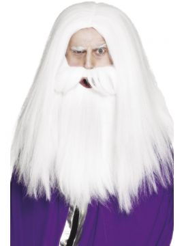 Magician Set For Sale - Magician Set, White, with Wig and Beard, in Display Box | The Costume Corner Fancy Dress Super Store