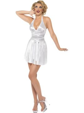 Marilyn Monroe For Sale - Marilyn Monroe Sexy Costume, White, Halterneck Dress | The Costume Corner Fancy Dress Super Store